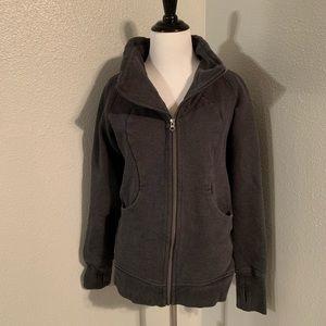 Size 8 grey lululemon zip up sweater